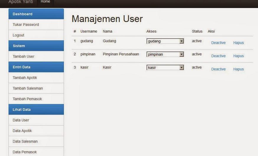 Aplikasi Apotik Codeigniter Gratis