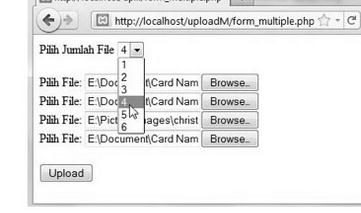multiple upload file dengan PHP