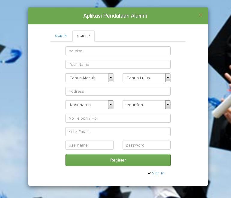 Aplikasi Pendataan Alumni PHP MYSQLi OOP