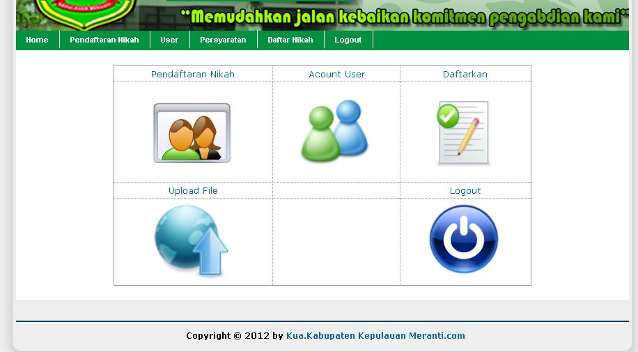 Sistem Informasi Pendaftaran Nikah Berbasis Web Php Mysql
