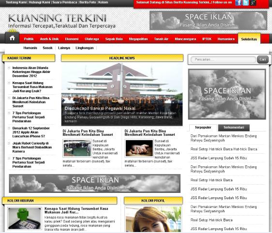 free download website berita template php mysql